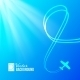 Airplane on Blue Background - GraphicRiver Item for Sale