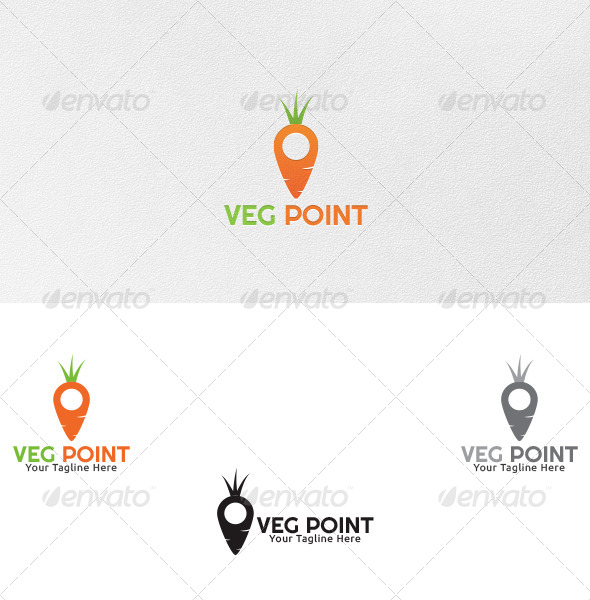 GraphicRiver Vegetable Point Logo Template 4743761