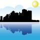 Manhattan and Hudson river - GraphicRiver Item for Sale
