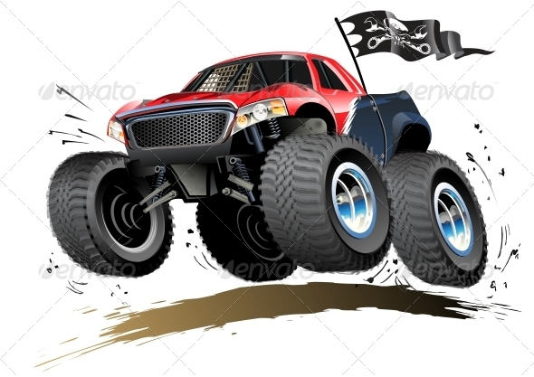 GraphicRiver Cartoon Monster Buggy 4744794