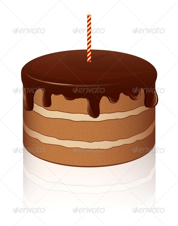 GraphicRiver Vector Chocolate Cake 4745416