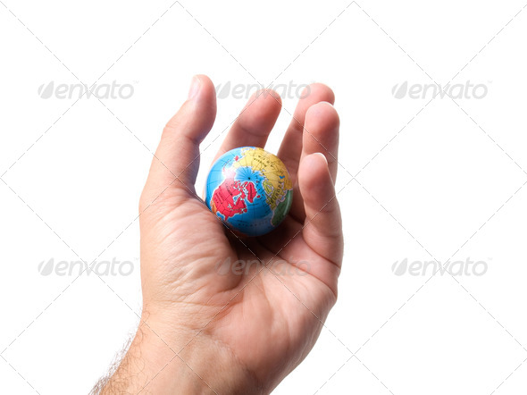 World in your palm - Stock Photo - Images