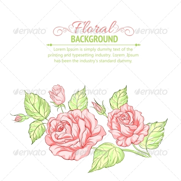 GraphicRiver Silhouette of Rose with Sample Text 4746399