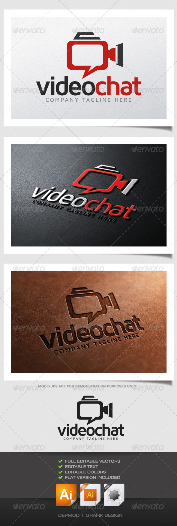 Video Chat Logo - Symbols Logo Templates