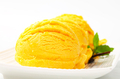 Scoop of yellow ice cream - PhotoDune Item for Sale