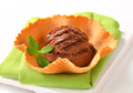 Ice cream in wafer bowl - PhotoDune Item for Sale