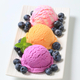Assorted ice cream with fresh blueberries - PhotoDune Item for Sale