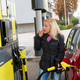 woman at refuel at petrol station - PhotoDune Item for Sale