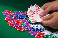 Colorful poker chips and royal flush - PhotoDune Item for Sale