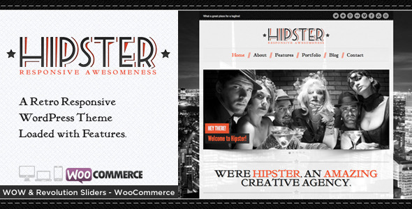 Hipster: Retro Responsive WordPress Theme - Portfolio Creative
