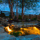 Garden pond at night - PhotoDune Item for Sale