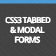CSS3 Tabbed &amp;amp; Modal Forms - CodeCanyon Item for Sale