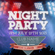 Night Party Flyers Template