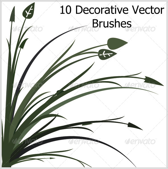 GraphicRiver 10 Decorative Vector Brushes 4750854