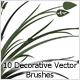 10 Decorative Vector Brushes - GraphicRiver Item for Sale