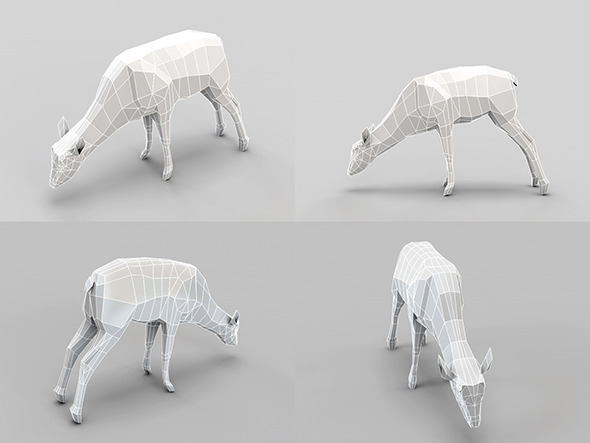 3DOcean Low Poly Mesh Deer 4751197