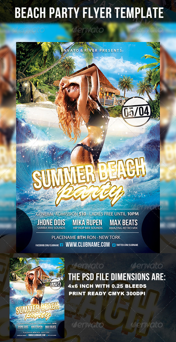 GraphicRiver Party Harder Flyer template 4616351