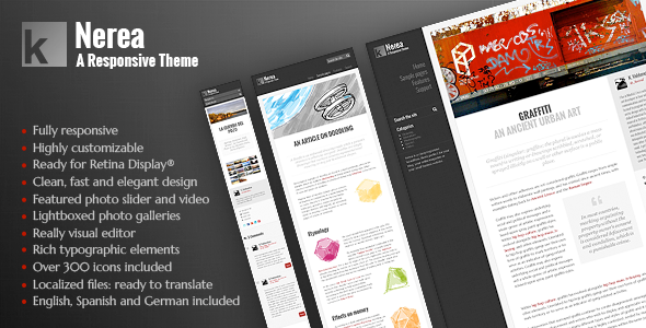 Nerea WordPress Responsive Theme - Blog / Magazine WordPress