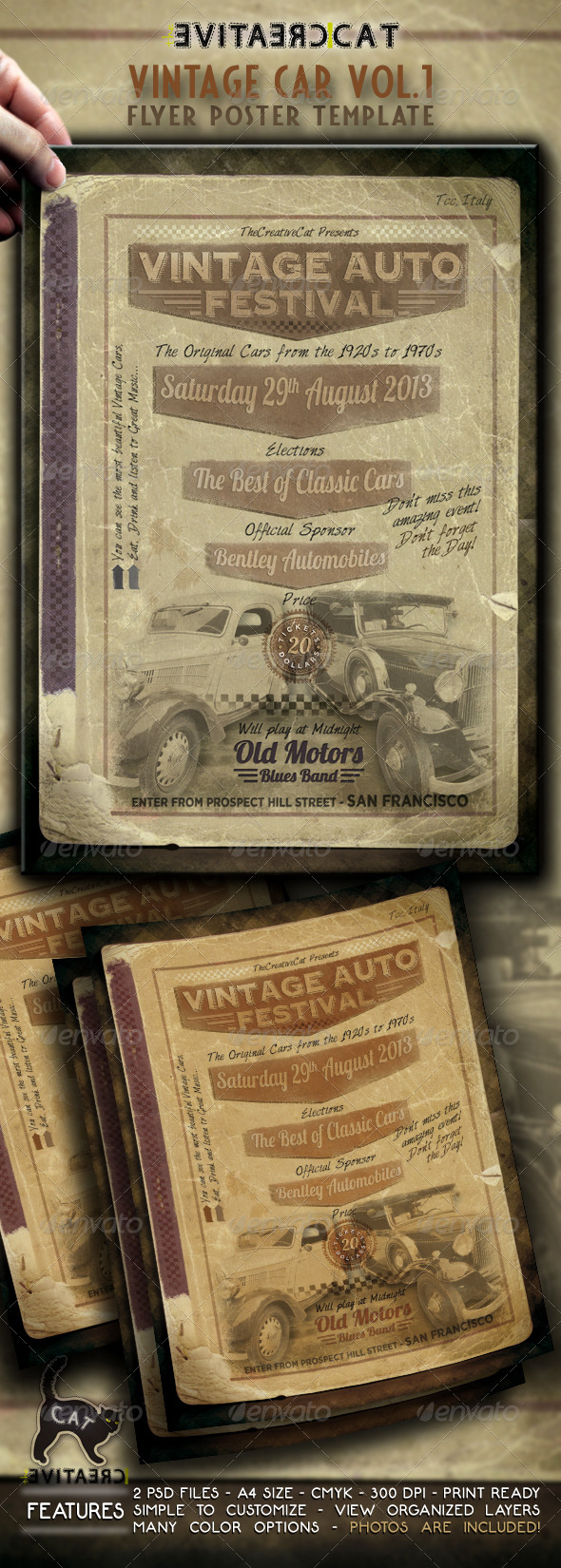 GraphicRiver Vintage Car Flyer Poster Vol.1 4751521