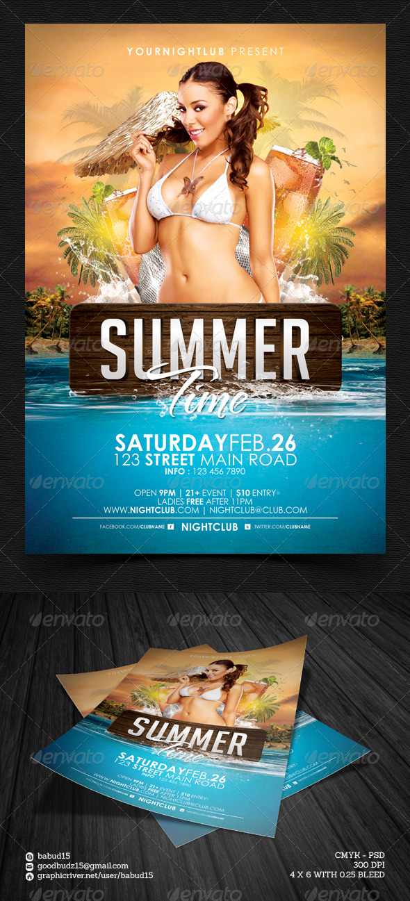 GraphicRiver Summer Time Flyer Template 4674671