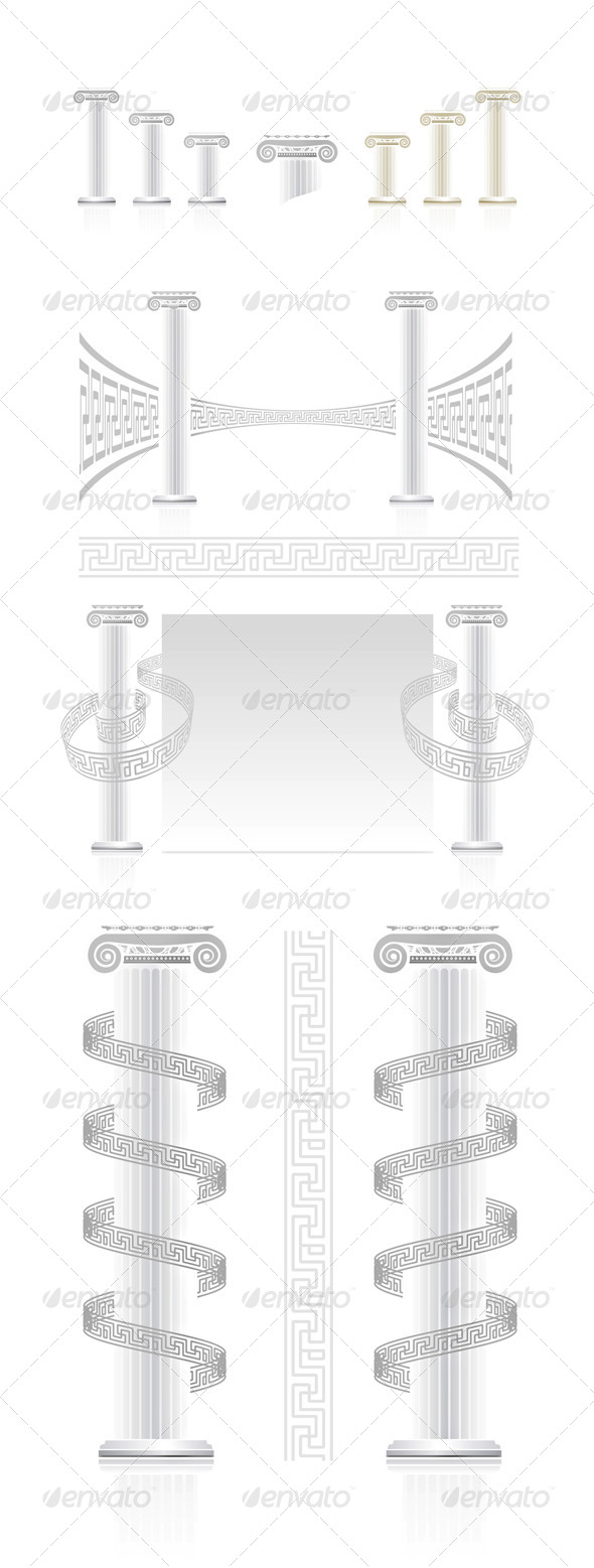 GraphicRiver Ionic Column With Greek Key Pattern 2585077