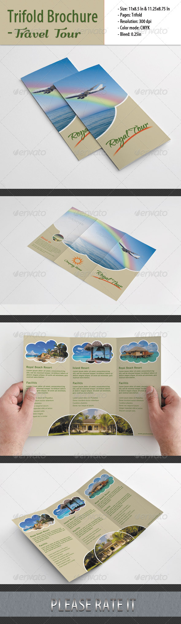 GraphicRiver Trifold Brochure For Travel Tour 4751678