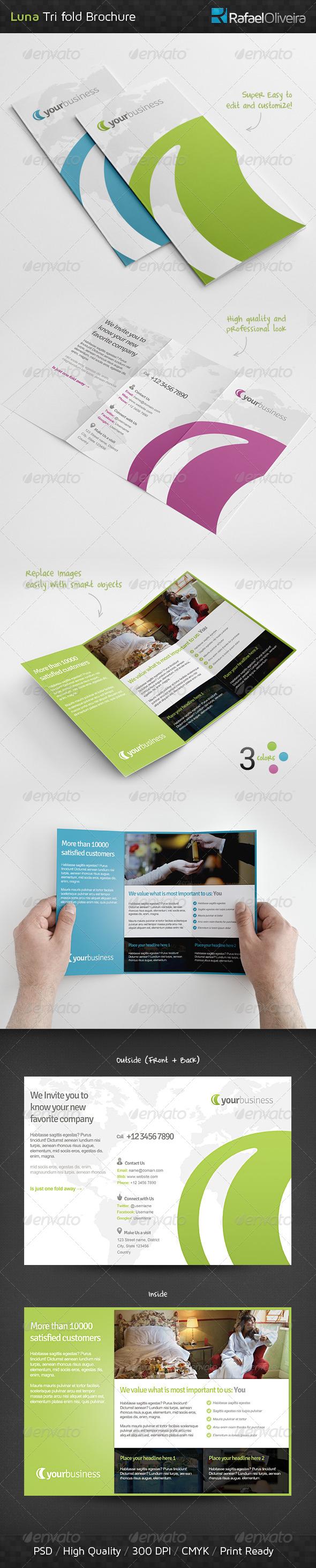 GraphicRiver Luna Tri Fold Brochure 4682146