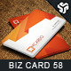 Business Card Design 58 - GraphicRiver Item for Sale
