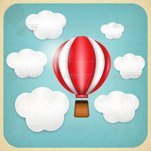 GraphicRiver Vintage Balloon Retro Card 4752340