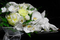 Wedding bouquet on black piano - PhotoDune Item for Sale
