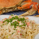 Dungeness crab pasta on white plate - PhotoDune Item for Sale