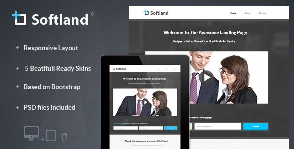 ThemeForest Softland Responsive Landing Page 4753958