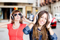 People with headphones - PhotoDune Item for Sale