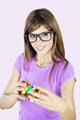 Smart girl with game - PhotoDune Item for Sale
