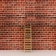 3d illustration of a ladder against near old wall - PhotoDune Item for Sale