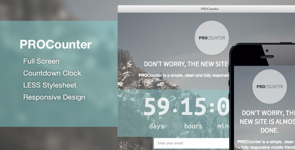 ThemeForest PROCount Countdown Landing Page 4754546