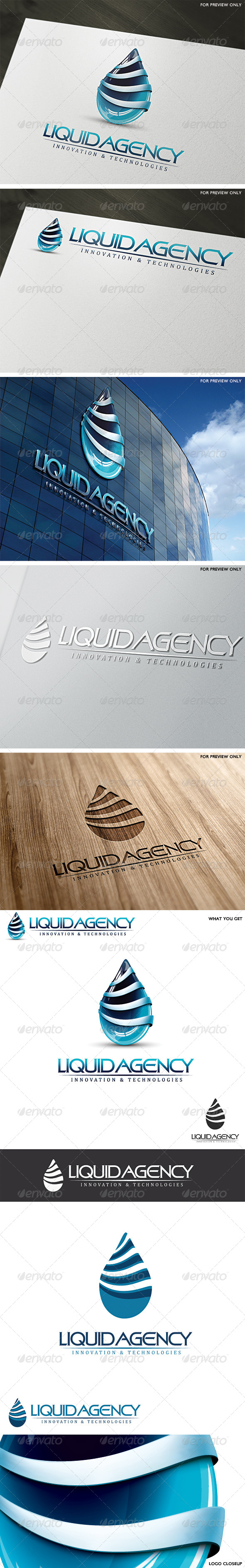 GraphicRiver 3D Liquid Agency Logo Template 4734288