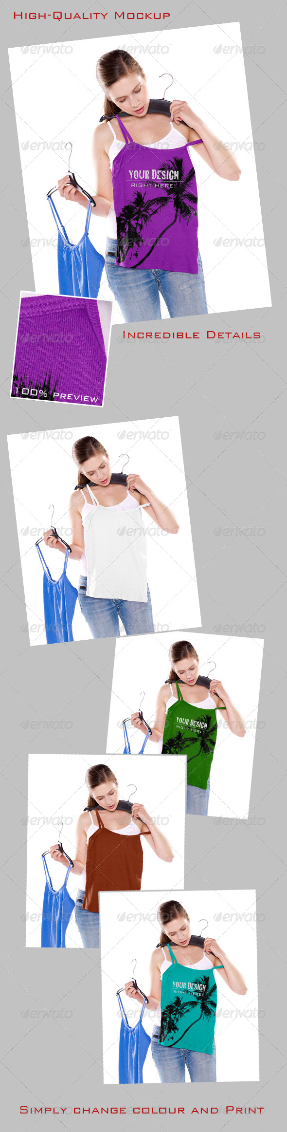 GraphicRiver Mock-Up Girl Trying on Top 4754799
