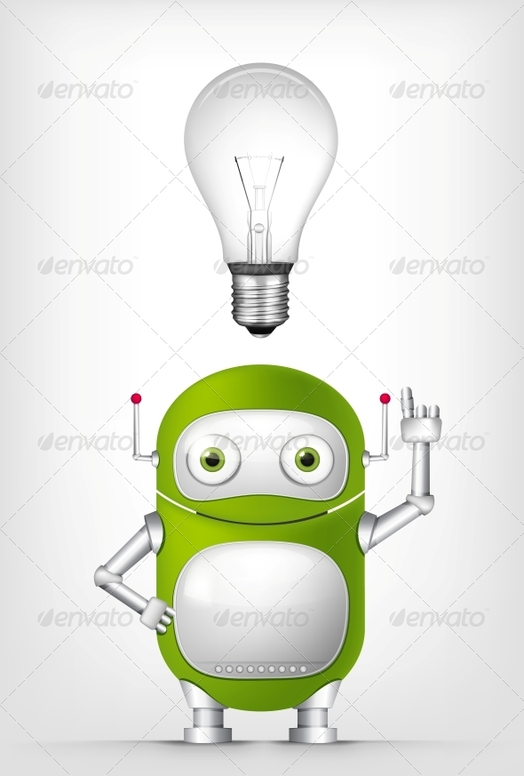 GraphicRiver Green Robot 4754817
