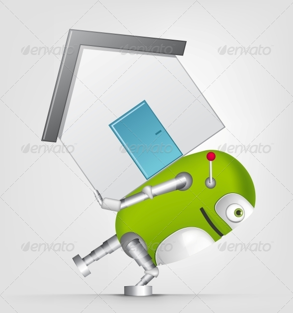 GraphicRiver Green Robot 4754819
