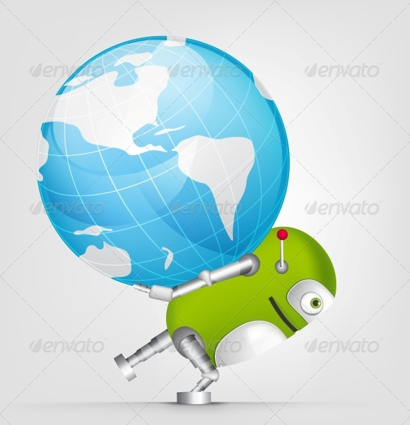 GraphicRiver Green Robot 4754838