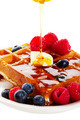 Syrup Pouring Over Waffles - PhotoDune Item for Sale
