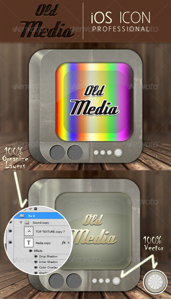 GraphicRiver Old Media Application Icon 4732417