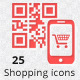 25 Shopping Icons - GraphicRiver Item for Sale