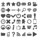 Grey Web Icons Set on White - GraphicRiver Item for Sale