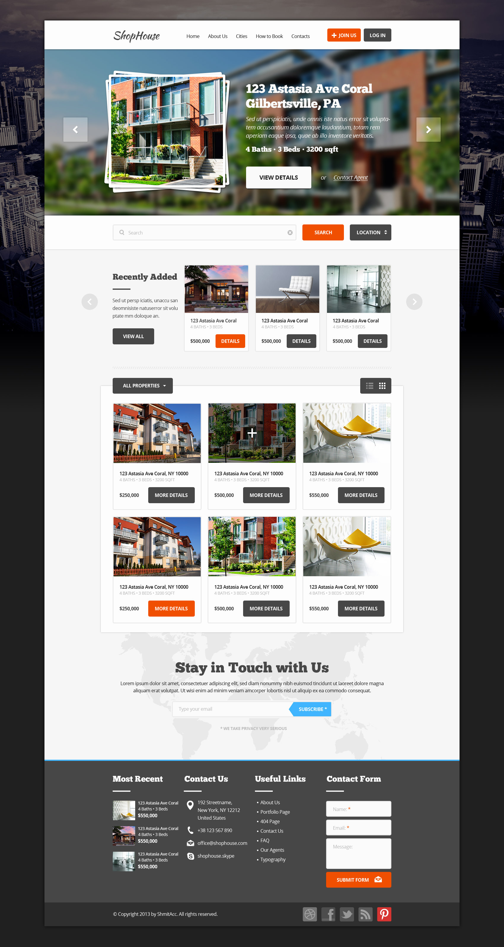 ShopHouse: Premium PSD Template
