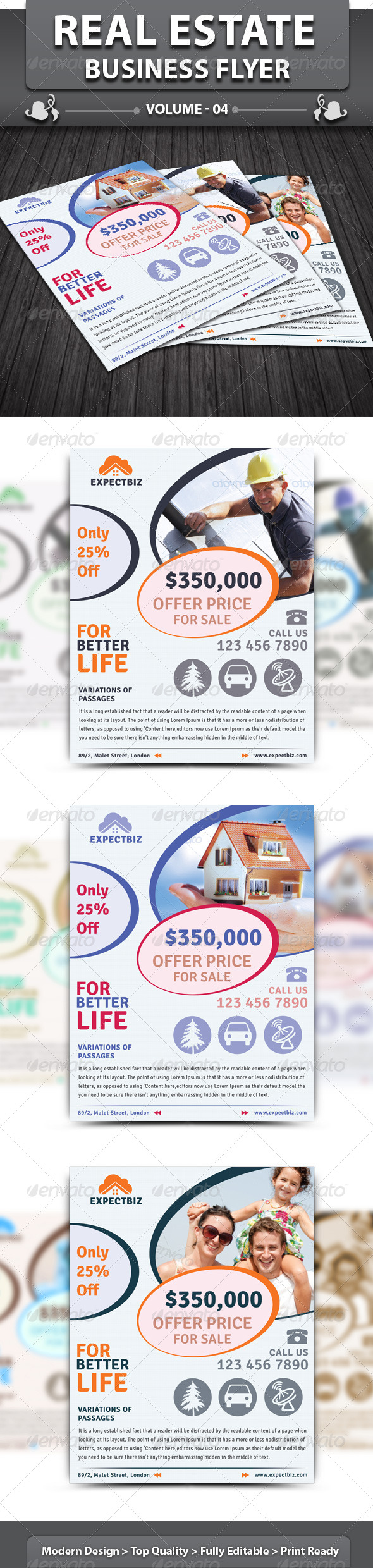 Real Estate Business Flyer | Volume 4 - Corporate Flyers