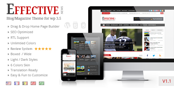 EffectiveNews – Responsive WP News Magazine blog (News / Editorial) images