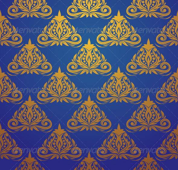 GraphicRiver Blue Triangle Pattern 4758339