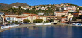 Panoramic view on a Mediterranean town with beach - PhotoDune Item for Sale